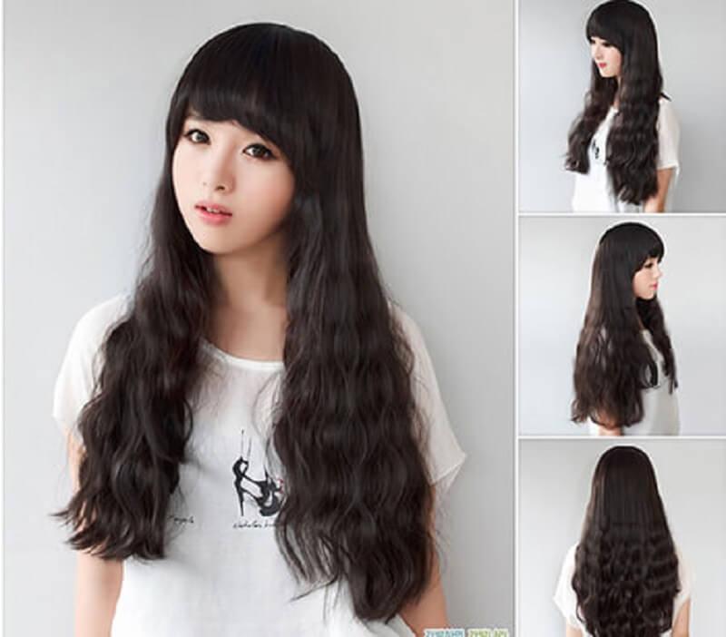 Các cô nàng có tóc quá dày có thể tham khảo kiểu tóc này