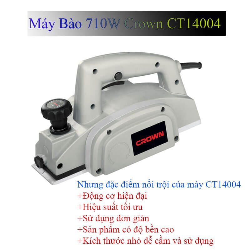 Những ưu điểm nổi bật của sản phẩm máy bào gỗ Crown CT14004