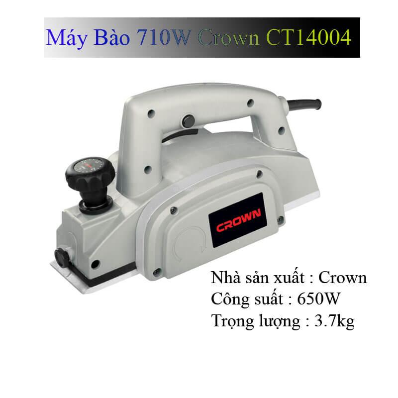 Thông tin về sản phẩm máy bào gỗ Crown CT14004