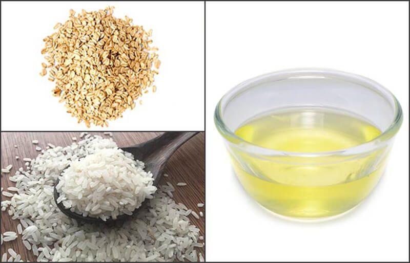 Lòng trắng trứng với bột yến mạch và gạo