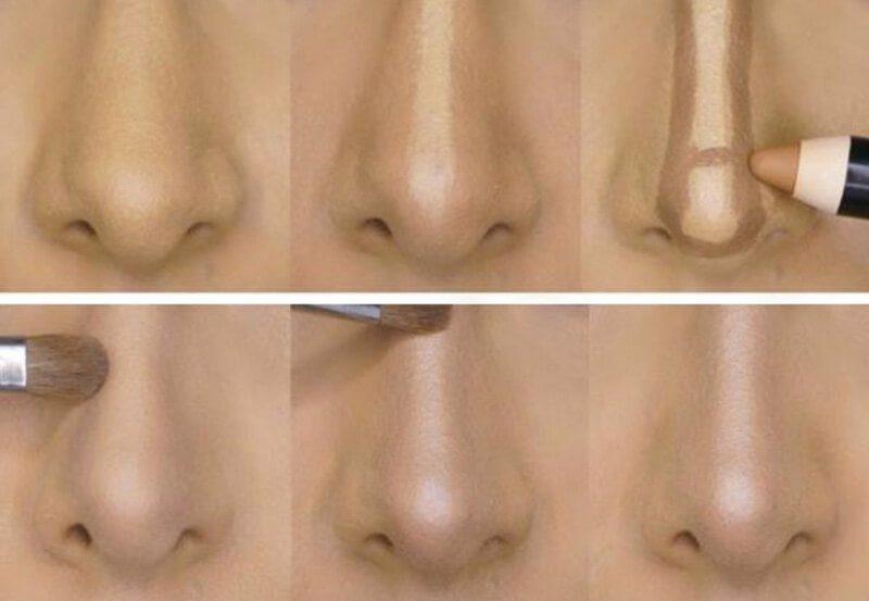 Trang điểm đánh khối cho mũi